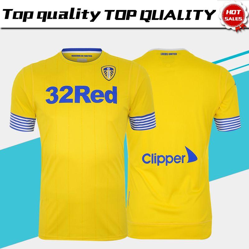 3bf1392ef 2019 2019 Leeds United Third Yellow Soccer Jerseys 18 19 Leeds United  Football Club 3rd Football Shirts  7 ROOFE  10 ALIOSKI Soccer Shirt From  Xctc5320