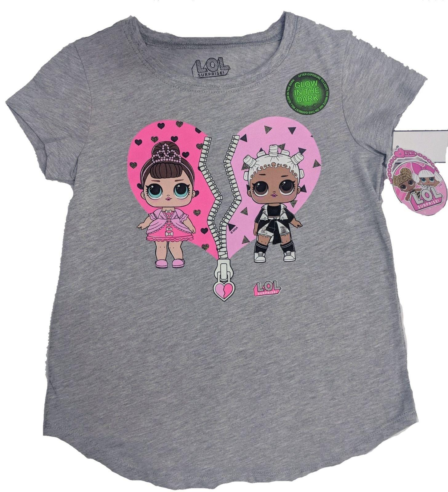 9ae46521d8d7 LOL Glow In The Dark Surprise Girls T Shirt Charcoal He... Men Women Unisex  Fashion Tshirt Silly T Shirt Make Your Own Tee Shirt Design From ...
