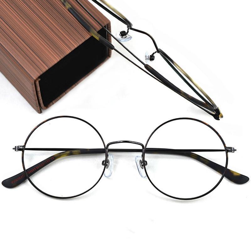 b82d9cd05e Compre Japonés Retro Gafas Hechas A Mano Marco De Metal Marco Redondo Gafas  Marco Hombres Y Mujeres Miopía Gafas Planas Al Por Mayor FT22228 A $71.68  Del ...