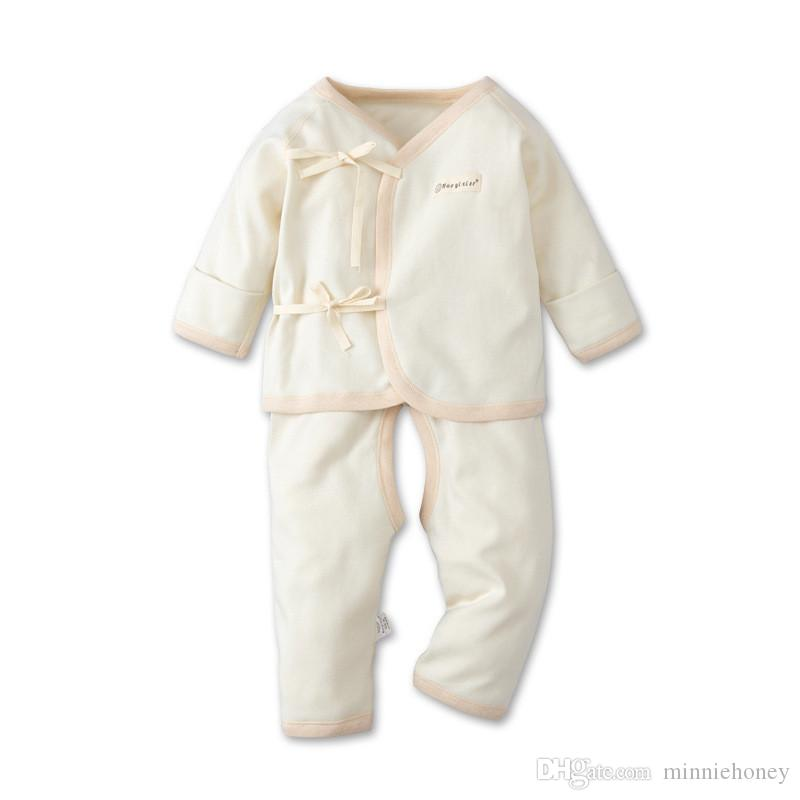 2019 Newborn Baby Clothing Set Colored Organic Pure Cotton Baby Boys Girl Clothes Soft Warm Outfits for Spring Autumn