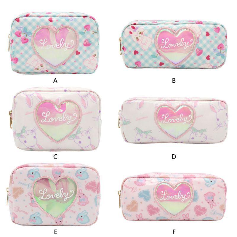 eec777e35b3c Fashion Women Girls Cute Heart Rabbit Makeup Bag Lady Female Casual  Cosmetic Case Storage Organizer Bag Travel Tool New 6 Styles
