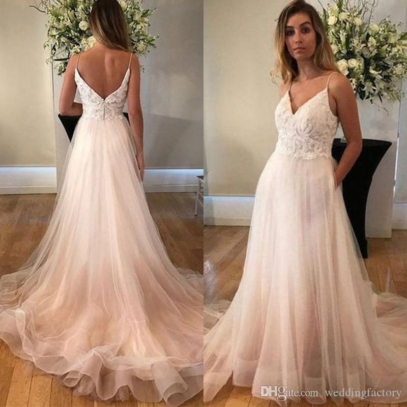 c6b61153e60b Spaghetti Straps Prom Dresses Lace Appliques Top Open Back Tulle Skirt  Evening Party Gowns Formal Dress Custom Made Prom Dress Formal Dresses From  ...