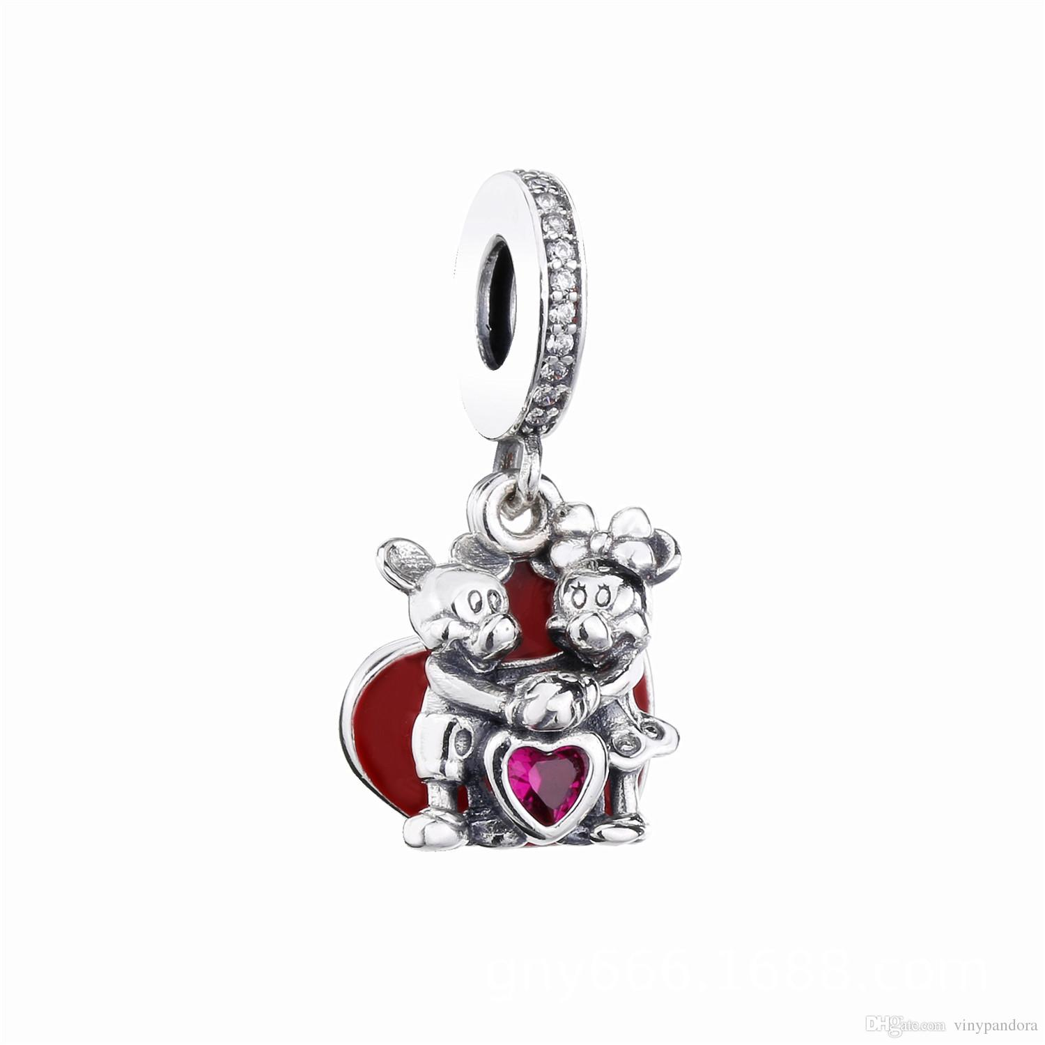 4f7cf60c1 2019 New 925 Sterling Silver Valentine's Day Fall In Love Pendant ...