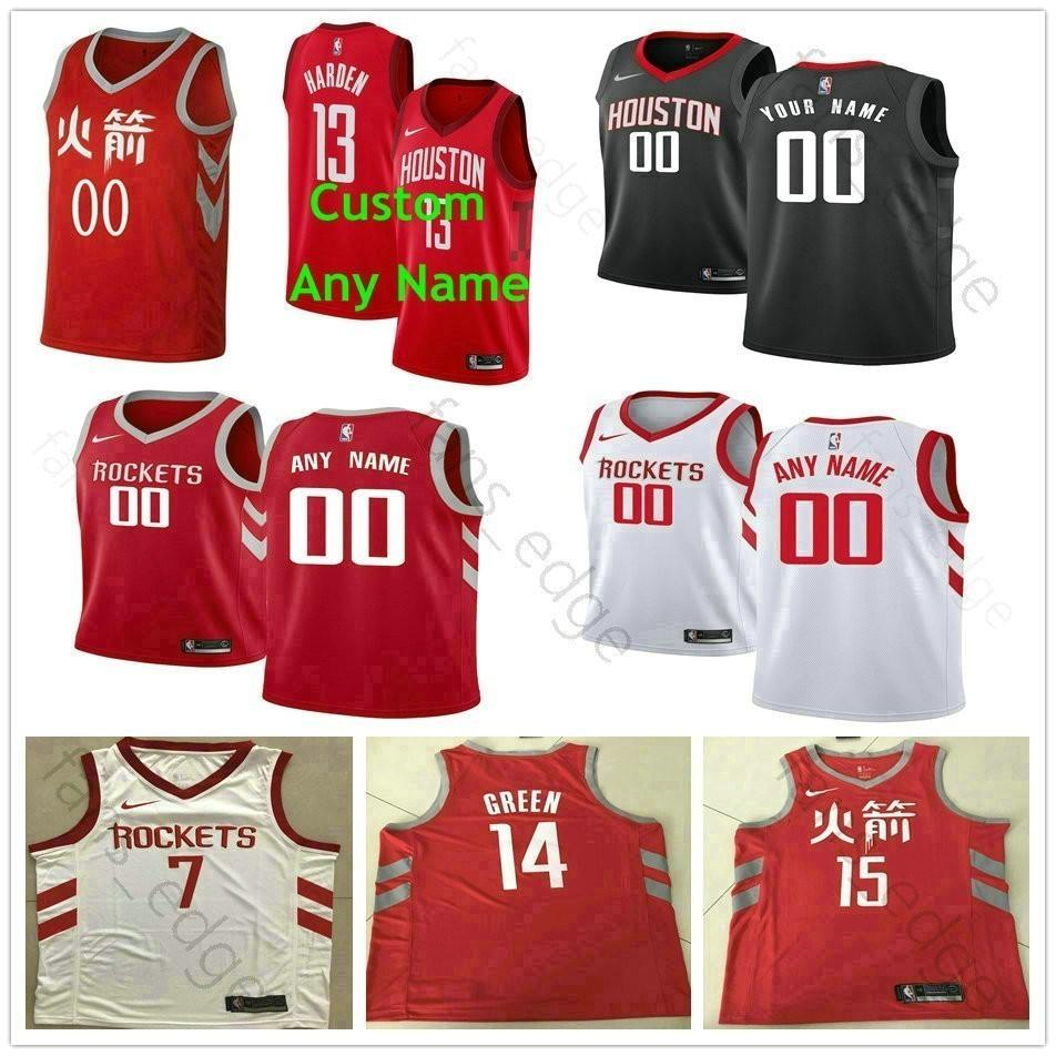 2019 Screen Printed Custom Houston 1 Tracy McGrady 34 Hakeem Olajuwon 22  Clyde Drexler 10 Sam Cassell 11 Yao Ming 25 Robert Horry Rockets Jerseys  From ... 062cd8d46