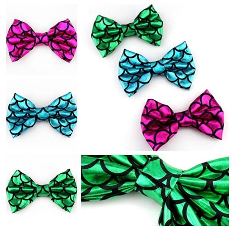 Fashion Mermaid DIY Hair Accessories Printed Hair Bows Mermaid 5 inch DIY Hair decorate for kids headdress decorative material T10C0013