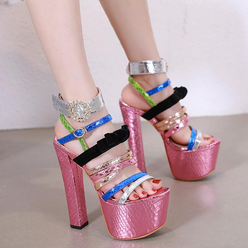 b4af6462aea Bohemian Sandals Summer Shoes Sexy Women High Heels Sandals Sweetly Blush  Fashion Buckle Thick Women Platform Sandals YMA755 Summer Sandals Men  Sandals From ...