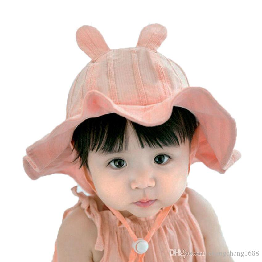 Baby Bucket Hat Outdoor Fisherman Hats For 2019 Spring Summer Kids Big Wave  Brim Rabbit Ear Cap Girls Beach Hat Caps Chapeu MZ7221 UK 2019 From ... 1338f1c0cd9