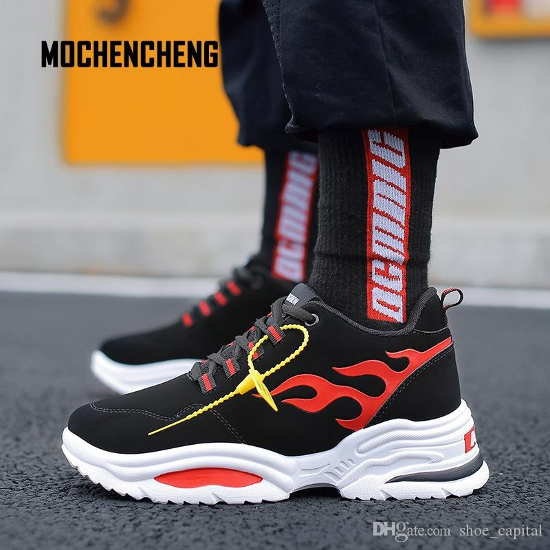 Smart Men Sneaker Old School Skateboard Shoes High Top Graffiti Print Round Toe Lace-up Hip Hop Male Sneaker Rubber Skateboard Shoes Men's Shoes