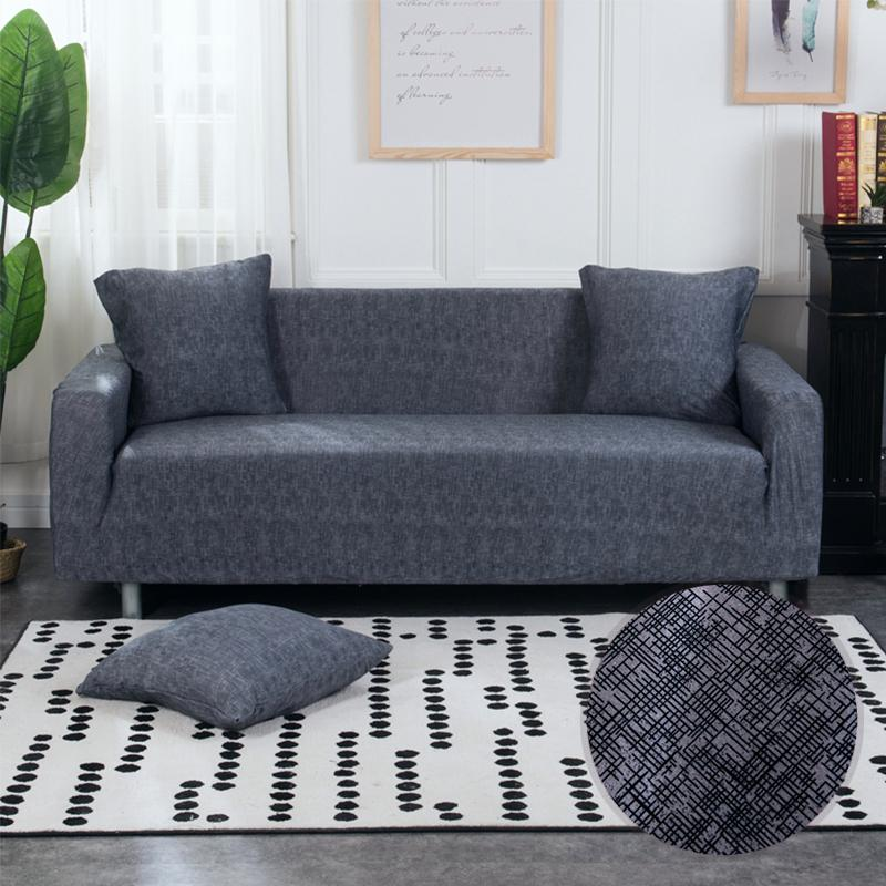 Jwels 1pc Solid Color Universal Stretch Sofa Cover All Inclusive Non Slip Slipcovers Sofa Cushion Towel