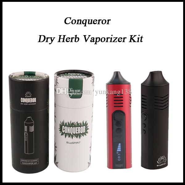 High quality Conqueror Dry Herb Vaporizer Starter Kit Vape pen E cigarette 2200mah battery capacity With OLED Display USB Charging Dry Herb