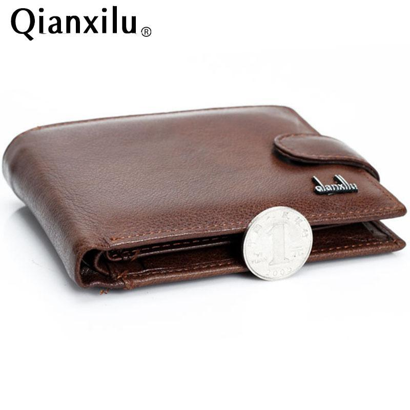df699988a3e2 Wallet Men 100% Genuine Leather Wallets Men Real Leather Purse With ...
