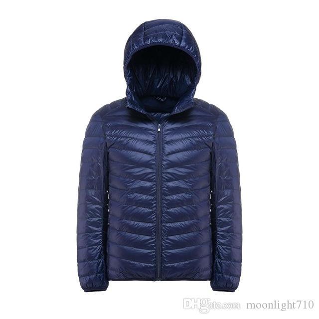 f58063573a20 New Casual White Duck Down Jacket Men Autumn Winter Warm Coat Men's ...