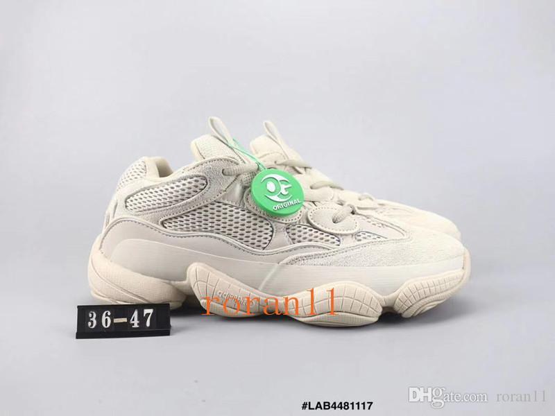 872af3e98 Compre Zapatillas De Correr New Salt 500 Kanye West Con Estuche Original  2019 Zapatillas De Deporte Para Hombre Super Moon Blush De Desert Rat 500  Sport ...