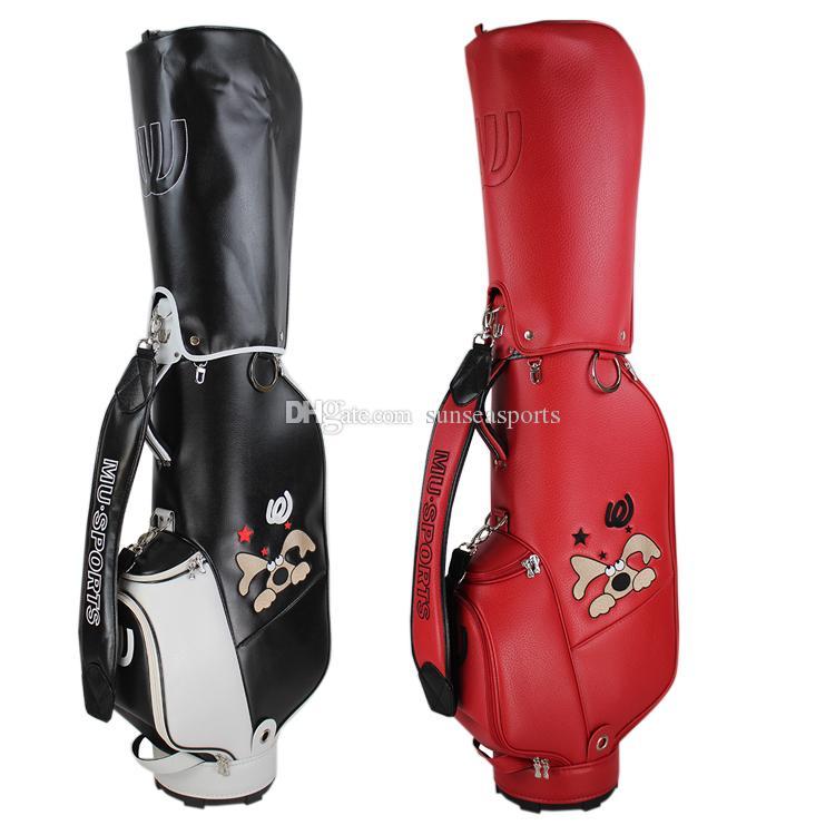 aac2d06c6dda 2019 Latest golf bag MU high-quality ball bag women exclusive PU golf cart  bag limited sales 2colors