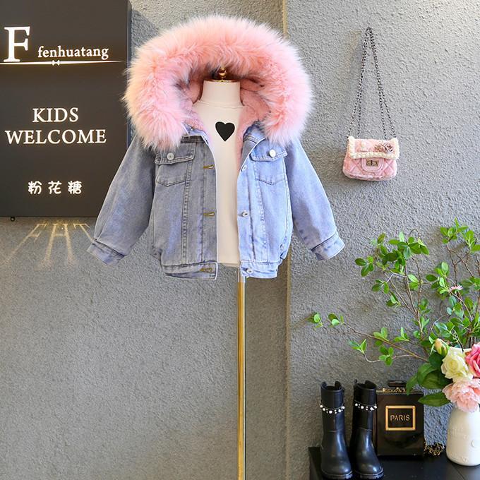 4fe88cb93 Baby Girl Jackets Toddler Faux Rabbit Fur Coats Little Girls Parkas ...