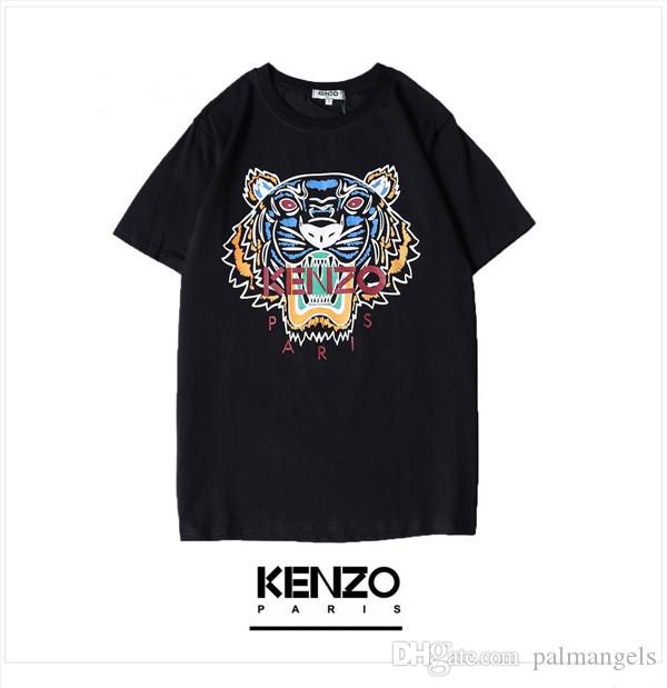 19ss usa fashion brand kez digital printing T-shirt limited edition round neck breathable lovers wear trend sports T-shirt