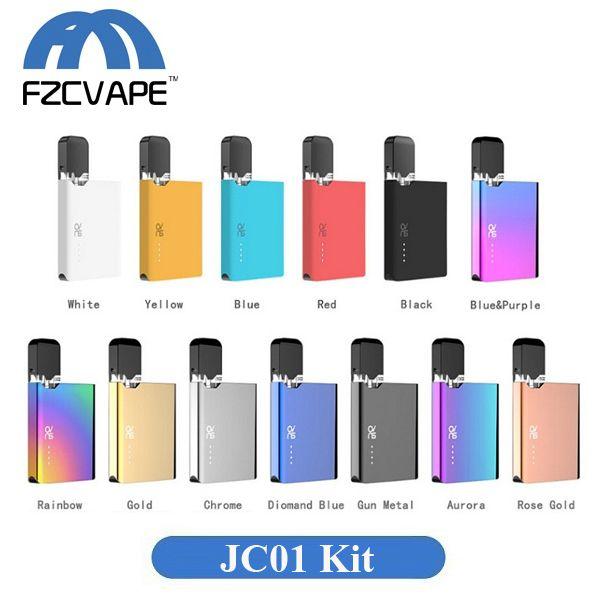 Authentic OVNS JC01 Starter Kit 400mAh 13 Colors Lipo Vape Pod Vaporizer  with 0 7ml Cartridge JUUL Compatible Device
