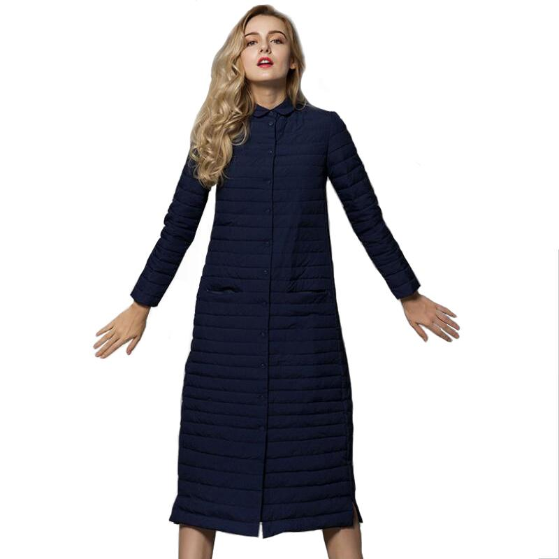 Winterjacke Damenmode Frühling Herbst Weiß Über Knie Stehkragen Langen Mantel Damen Neue Koreanische Version Leichte Jacken