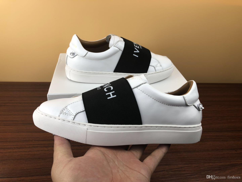 the best attitude f75dd 235ef Designer-Schuhe mit Echtleder Freizeitschuhe mit Ribbon Luxus Designer  Sneaker für Männer Kleid Schuhe Herren Sneakers mit Box