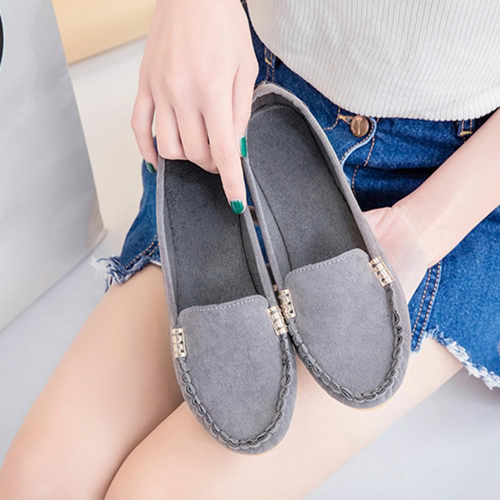49cb7f23f1 2019 Women's Pumps New Fashion Spring Summer Shoes Ladies Comfy Ballet  Shoes Soft Slip-on Casual Boat Shoes Lady Fashion Loafers