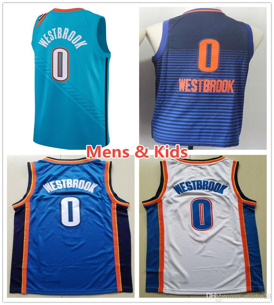 more photos 11187 8d1ef greece 2019 kids youth mens 0 russell westbrook jerseys new city edition  turquoise green blue orange