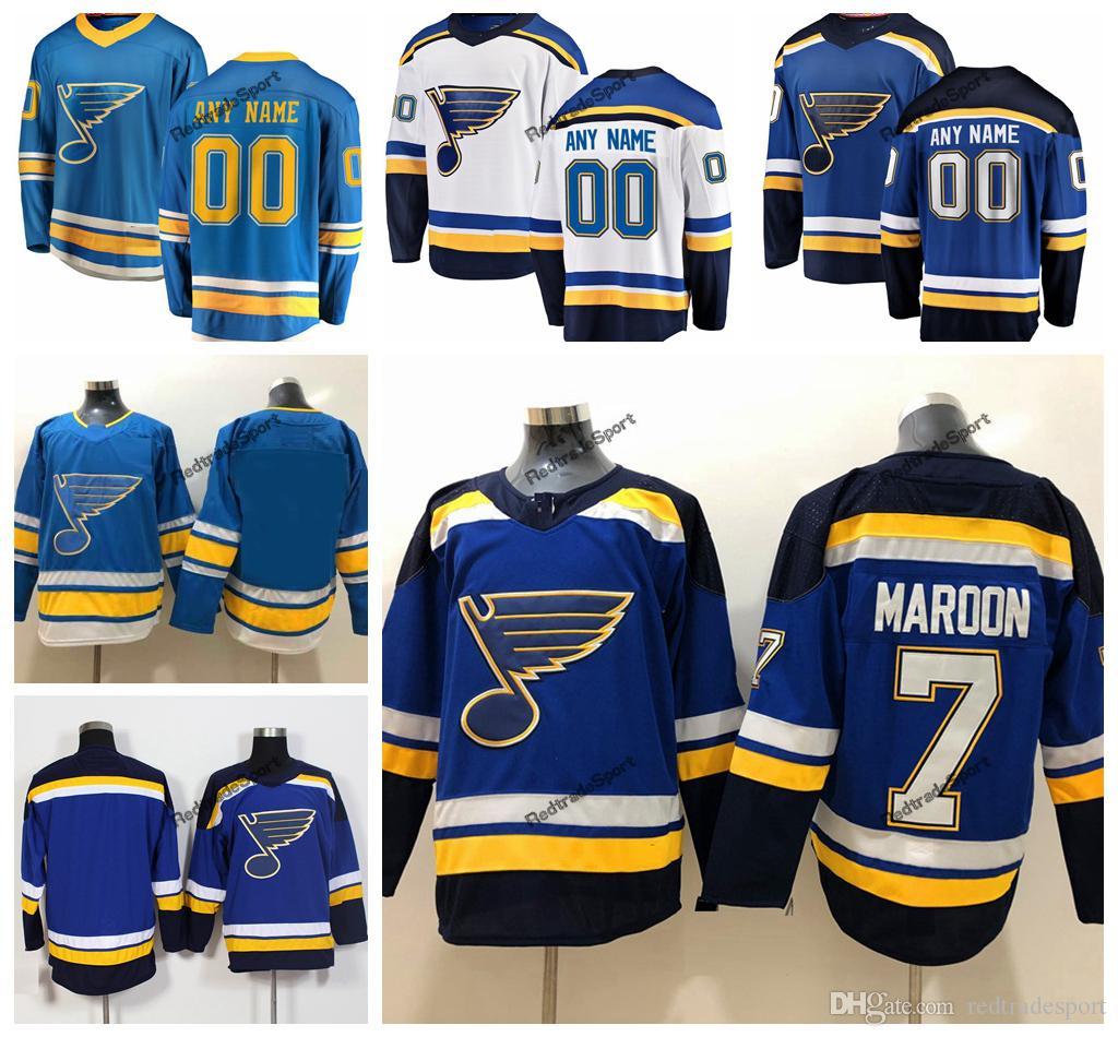 2019 2019 New Alternate Baby Blue Custom Pat Maroon St. Louis Blues Hockey  Jerseys Cheap 7 Pat Maroon Navy Blue Stitched Shirts From Redtradesport f4950d5ac9e