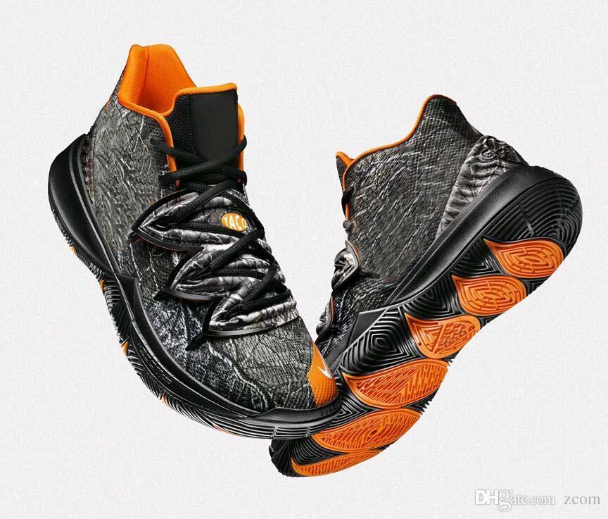 new product b110b 45b0d Compre Con Caja 2019 Limitada 5 Zapatos De Baloncesto Taco 5s Black Magic  Para Kyrie Chaussures De Basket Ball Zapatillas De Deporte Para Hombre  Zapatillas ...