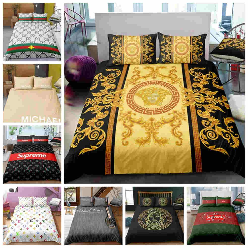 Fashionable King Size Luxury Bedding Set Queen Twin Full Single Double Duvet Cover Set Modern Decoration Comforter Cover with Pillowcase