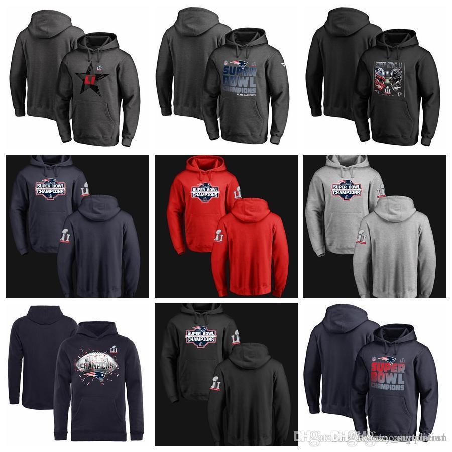 9230eeba Top Quality Super Bowl LI Champions Designmen Own Lone Star Trophy  Collection Locker Room Pullover Hoodie Hot Sale 100% Cotton