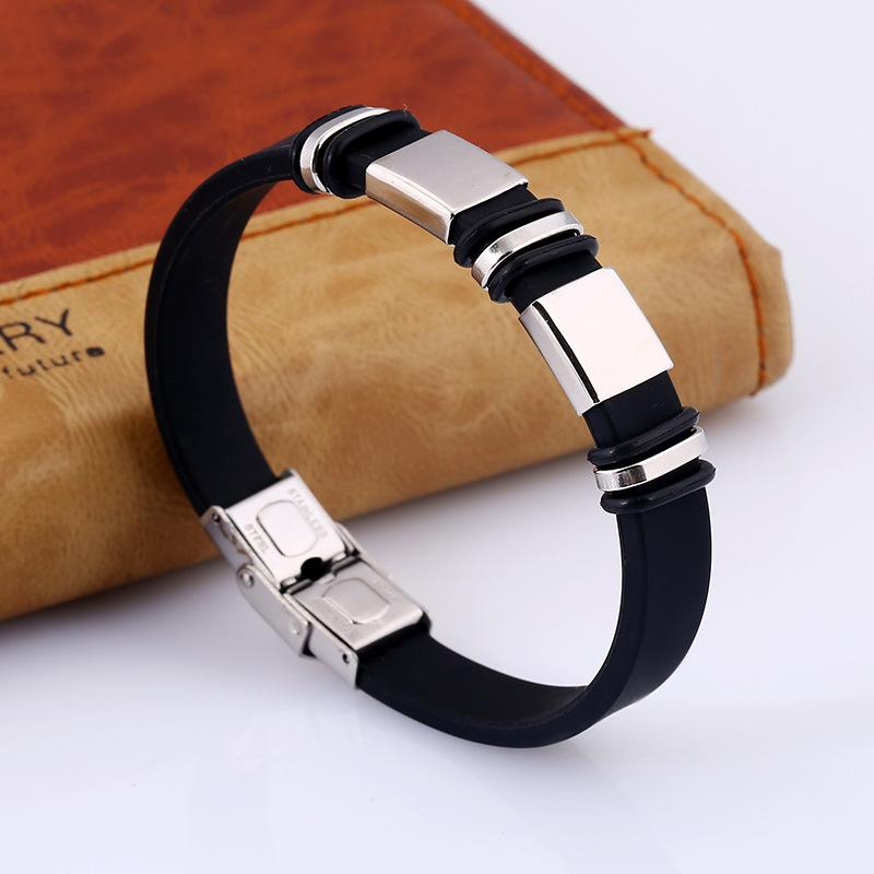 Bracelet for Men 2019 New Fashion Cuff Leather Bracelet Stainless Steel Charm Bracelet For Men Jewelry Gift