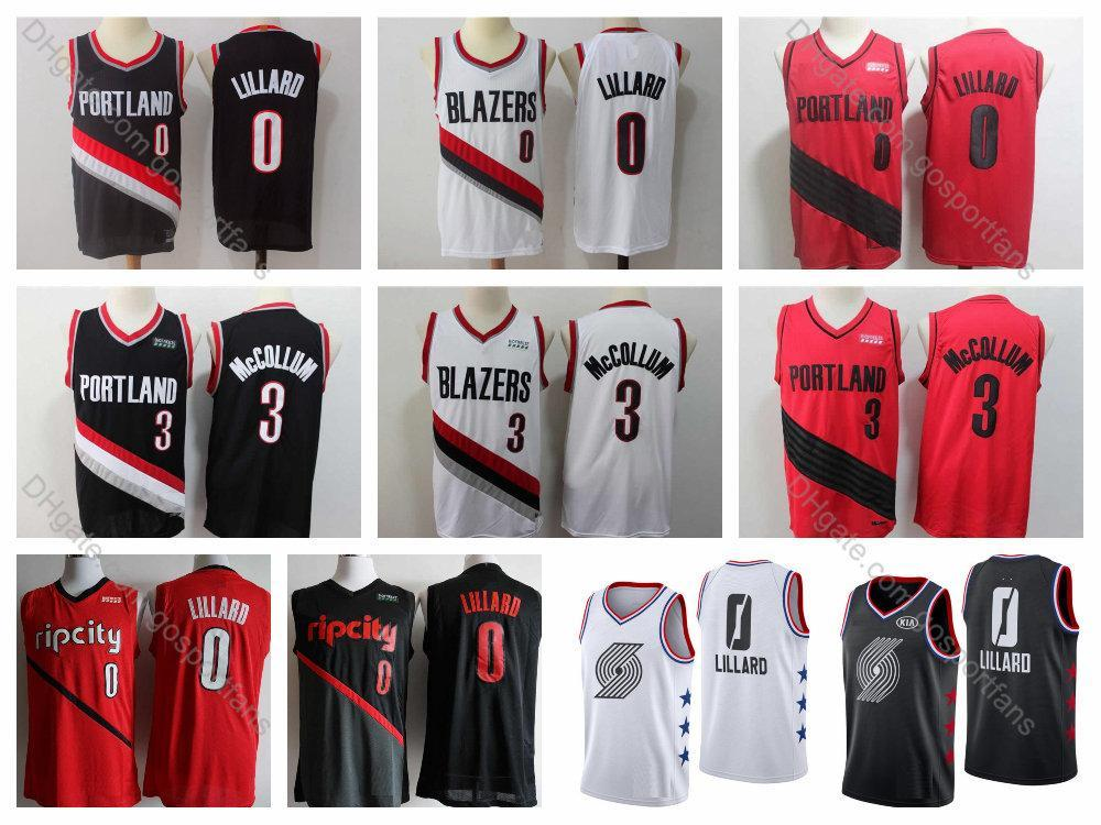 separation shoes 3f790 0560f 2019 Damian Lillard Jersey #0 Trail Blazer 2019 Earned CJ McCollum Jersey  #3 Portland Edition Basketball Jerseys Mens City Stitched S-XXXL