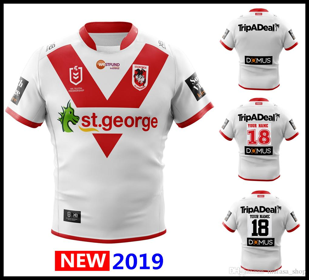 20c484b3c64 2019 2020 ST GEORGE ILLAWARRA DRAGONS HOME Rugby Jerseys NRL National Rugby  League Nrl Jersey St George Illawarra Dragons Shirt S-3xl Shirt Jersey  Rugby ...