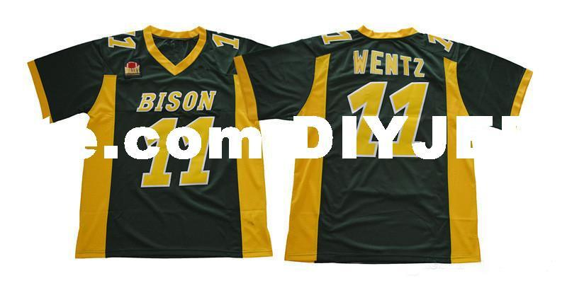 the latest ae738 c3d75 Mens NCAA NDSU Bison Carson Wentz Jersey Stitched white green #11 Carson  Wentz North Dakota State Bison College Football Jerseys S-3XL