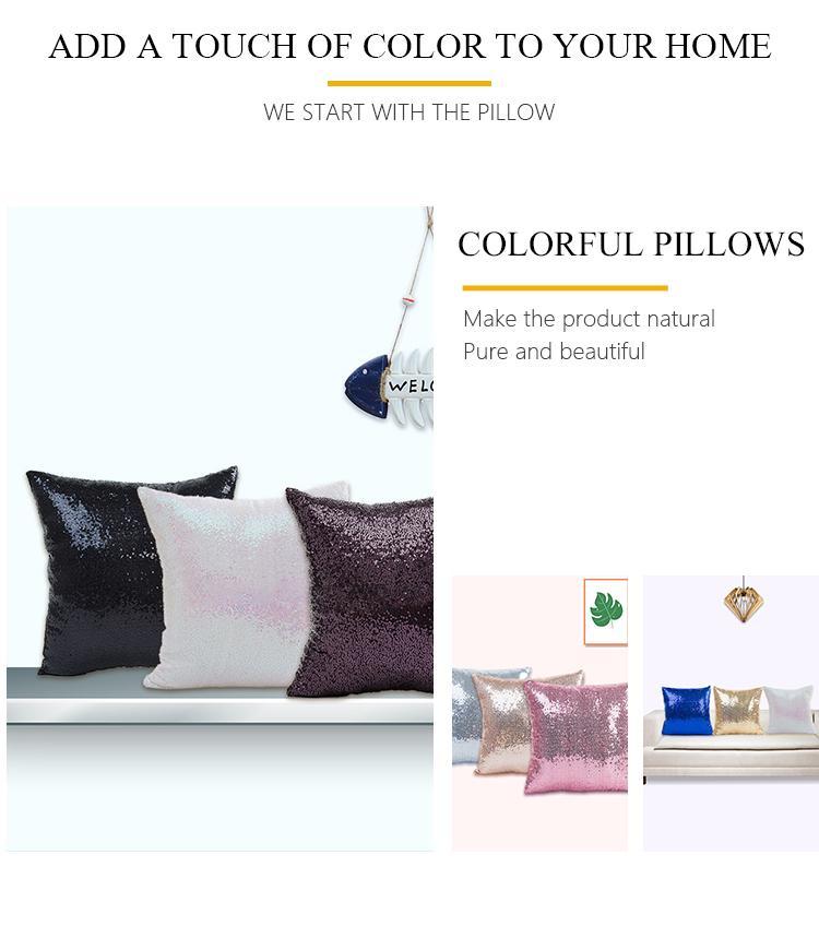 Glitter Lantejoula 40 * 40 Sequins Throw Pillow Sólidos Festa Lantejoula Home Decor Partido decoração decoração de casamento