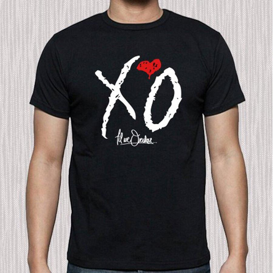 6f18be776c1 New The Weeknd XO Till We Overdose XO Logo Men S Black T Shirt Size S To  3XL Really Cool T Shirts Online Shopping T Shirt From Thanksgiving062