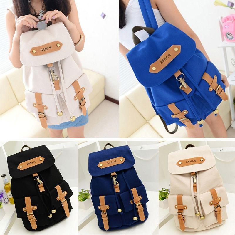 9b937b1d22fb Fashion Cute Lady Girls Versatile Vintage Canvas Satchel Backpack Shoulder School  Bag For Teenager Girl Women Fab Women Bag Book Bags Herschel Backpacks ...