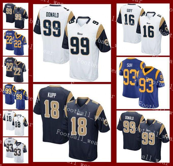 quality design e0541 7da9e Rams Jersey Los Angeles 12 Brandin Cooks 32 Eric Weddle 22 Marcus Peters 4  Greg Zuerlein 5 Blake Bortles Custom Stitched Football