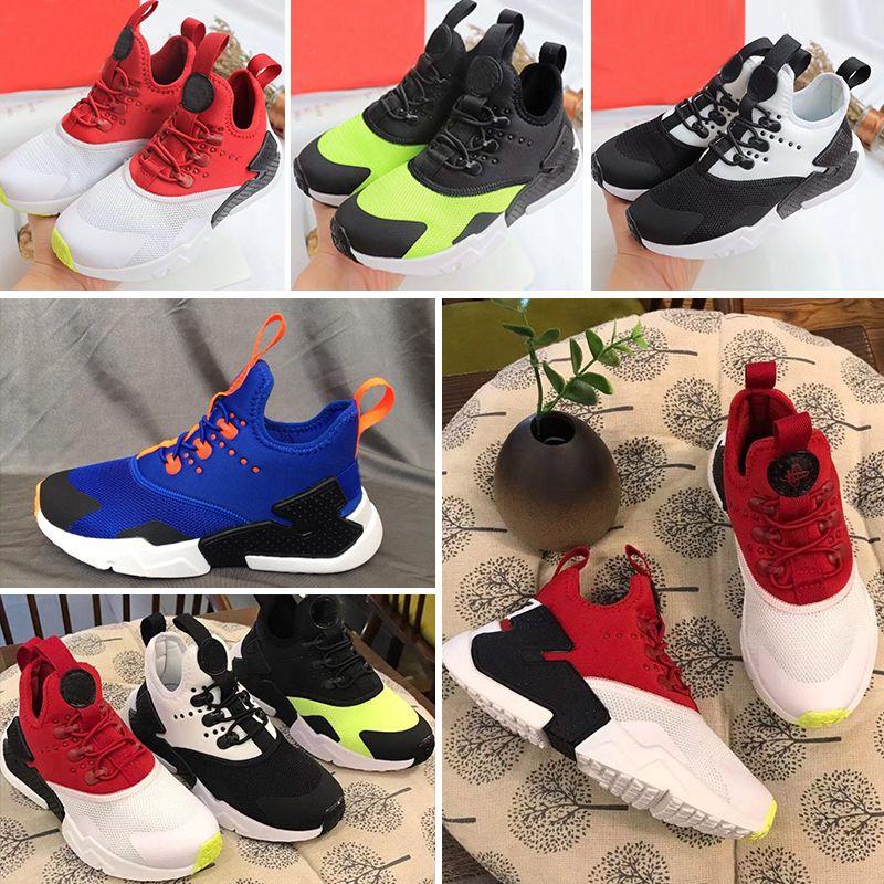 69b3dd3eb495 2018 New Children Air Huarache IV 4.0 Ultra Running Shoes Huraches Boys  Girls Shoes Baby Kids Triple Huaraches Sneakers Boys Sports Shoes Running  Shoes For ...