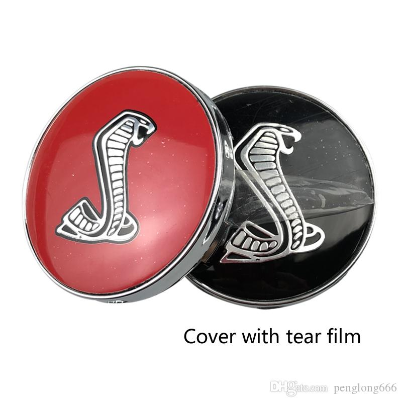 4Pcs 3D Cobra Snake Car Steering tire Wheel Center 56mm sticker 60mm Hub Cap Emblem Decals Symbol For Ford Mustang Shelby GT