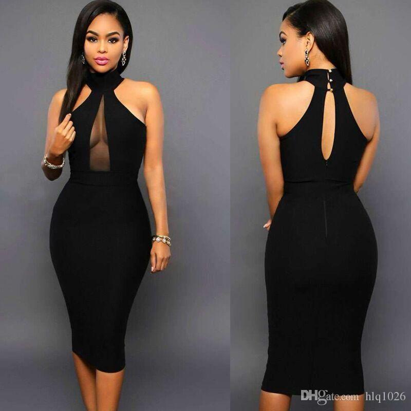744831213dda Women Midi Bodycon Dress Club Wear Party Dresses Backless Sexy Women ...