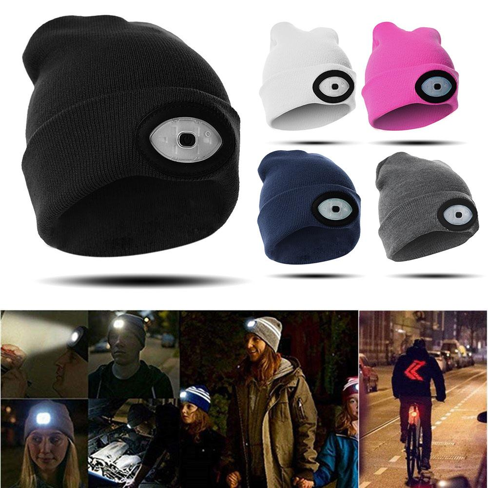 0bfffc26ceaad 2019 High Powered LED Light Unisex Beanie Hat With USB Rechargeable For  Outdoor Camping Hiking New From Cutport