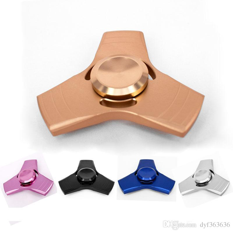 EDC Hand Spinner Metal Tri-Spinner Handspinner Alloy Finger Gyro Fidget Puzzles Toys For Autism ADHD Antistress Reliever