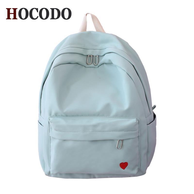 2019 FashionHOCODO 2018 Women Canvas Backpacks For Teenage Girls School Bag  Candy Color Waterproof Rucksack Female Travel Bag Shoulder Bag Back Pack ... 542c6b086d46a