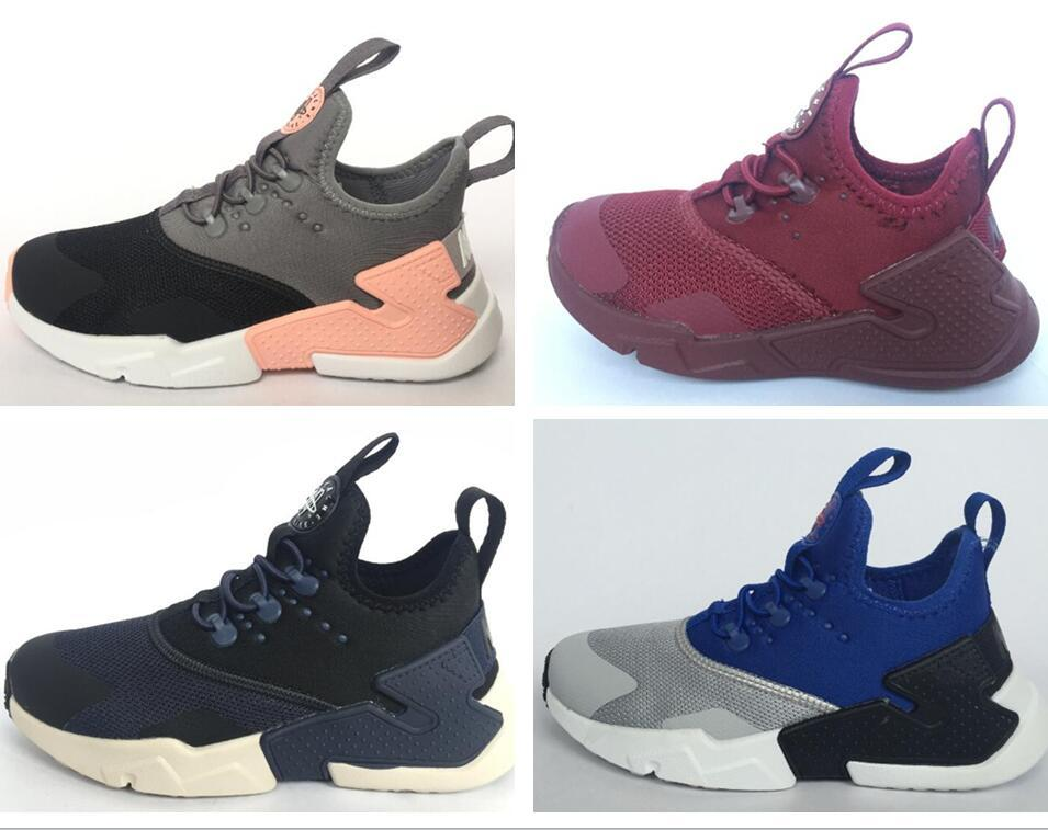 bfdf5b791d27d 2018 Newest Kids Air Huarache Sneakers Shoes For Boys Children S Trainers  Huaraches Sport Running Shoes Size 28 35 Best Girls Running Shoes Gym Shoes  For ...