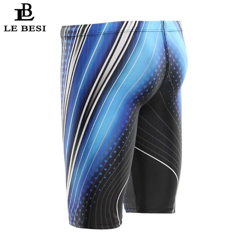 aefecdb9bb 2019 2017 Lebesi Men Professional Swimming Trunks Fifth Pants Men 'S  Swimsuits Hight Waisted Swimwear Plus Size Sportswear Beachwear From  Geiwode, ...