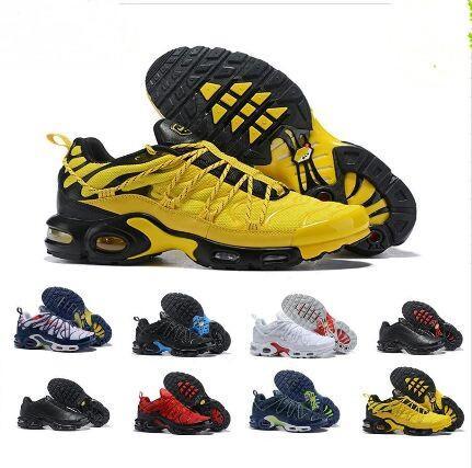 2019 Top champagnepapi Mercurial Plus Tn Ultra SE Negro Blanco Naranja Amarillo Zapatos de diseño Plus Zapato TN Mujeres Hombres Zapatillas de deporte