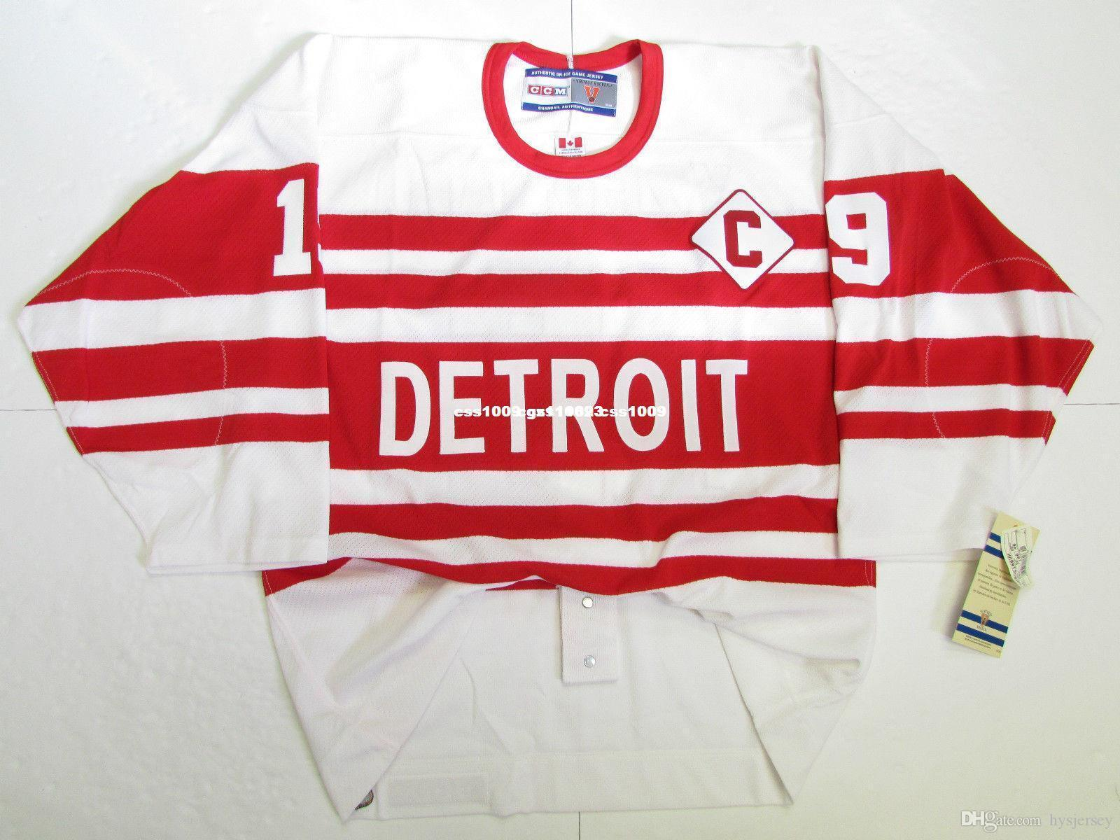 official photos d8283 739b2 Cheap custom STEVE YZERMAN DETROIT RED WINGS 1992 VINTAGE CCM 6100 JERSEY  stitch add any number any name Mens Hockey Jersey XS-5XL