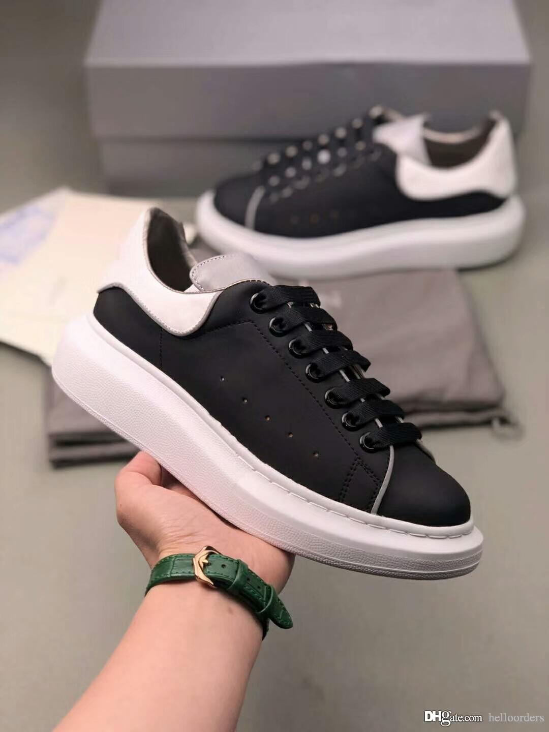 a7474d29c 2019 2019 Luxury Designer Brand Shoes Women Mens Espadrilles Black Grey  Authentic Leather Casual Shoes Girl Women Men Flat Sneakers From  Helloorders, ...