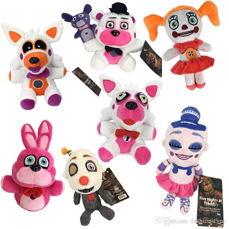 Hot Sale 6 Style Five Nights At Freddy 'S Freddy Foxy Kids Plush Stuffed Doll Toy For Children Best Holiday Gifts