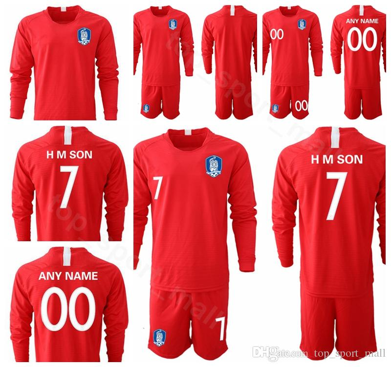 f0fefaa18 2019 2019 2020 Soccer Long Sleeve 7 Son Heung Min Jersey South Korea Set 2  Lee Yong Football Shirt Kits Uniform 19 HMSON 22 YHGO From Top sport mall